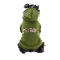 Cuddles Dog Hoodie in Army Green